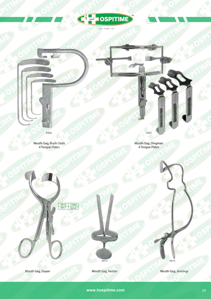 PAGE 29 GENERAL SURGERY SURGICAL INSTRUMENTS, ENT MOUTH GAG